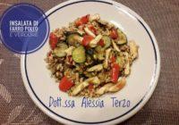 insalata di farro, pollo e verdure