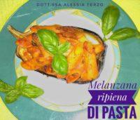 melanzana ripiena di pasta