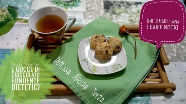 Tisana e biscotti dietetici