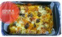 lasagne al farro con zucca funghi e asiago